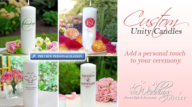 Add a personal touch to your ceremony with a Custom Unity Candle