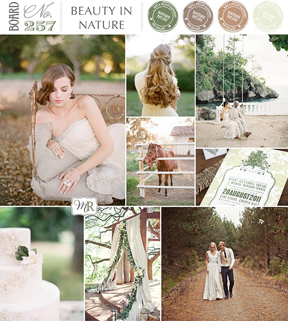 wedding inspiration derived from the beauty of nature