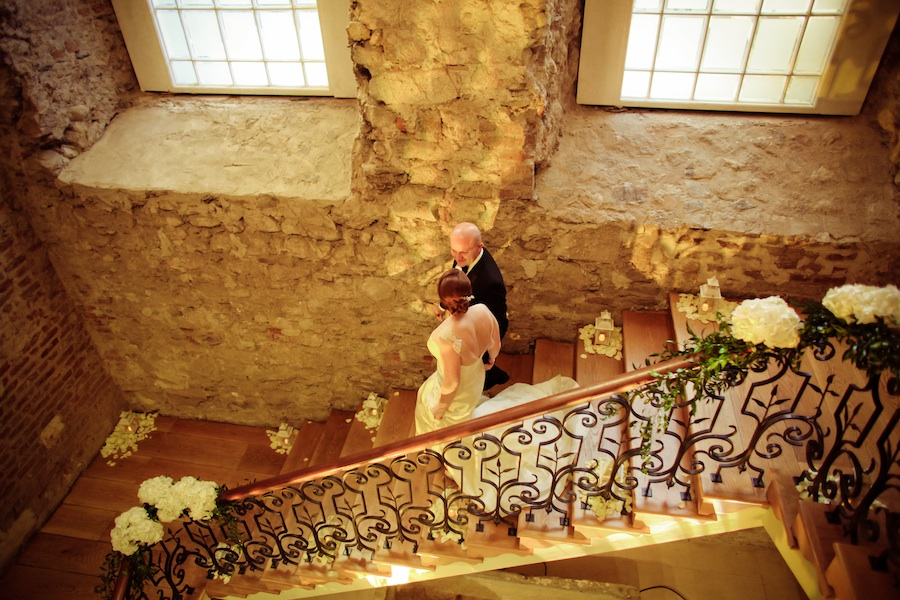 Wedding in Ireland - beautiful staircase for bride to come down from