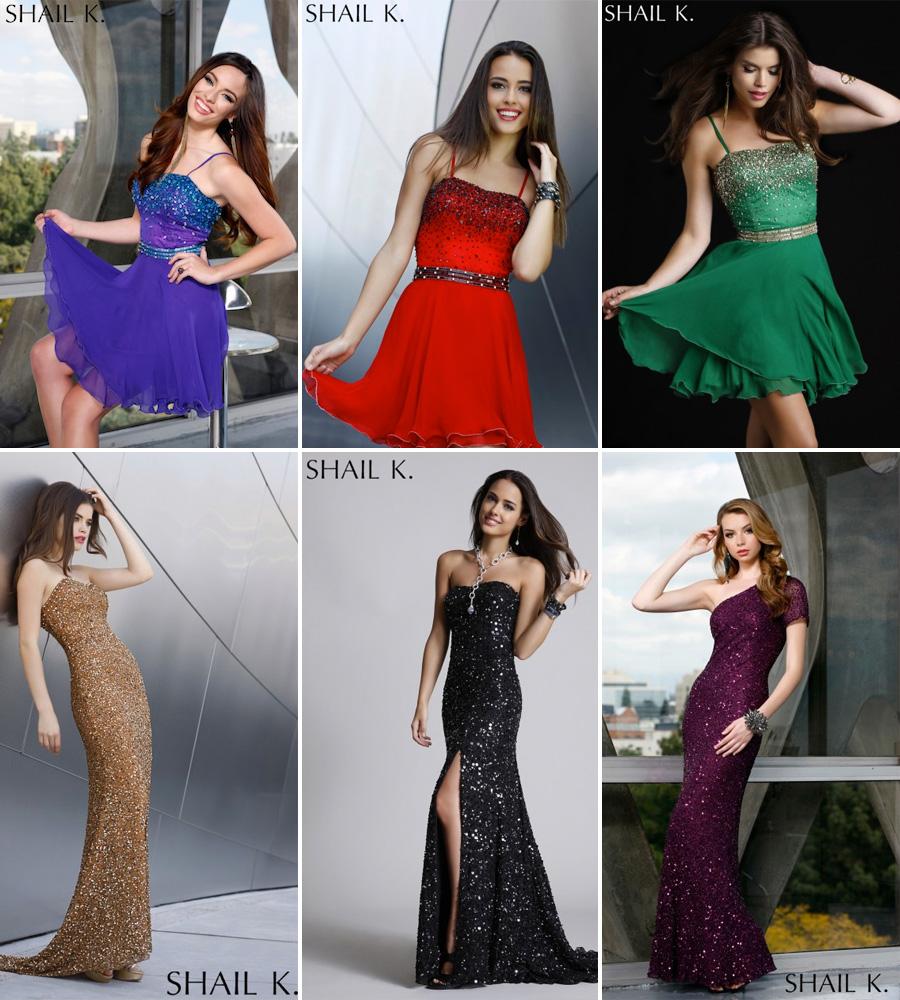 Glitzy Formal Dresses from Shail K.
