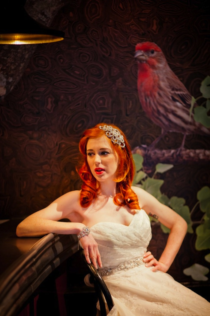 1940's Vintage Inspired Wedding Fashion Photo Shoot at quirky Oddfellows venue