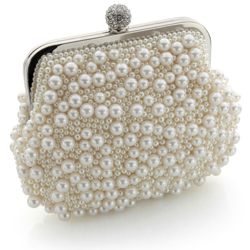 vintage pearl clutch bag in warm ivory : www.vintagestyler.co.uk @StyleMeVS