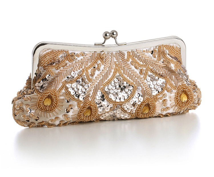 sequin clutch bag in champagne : www.vintagestyler.co.uk @StyleMeVS
