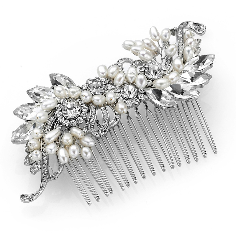 deco sweeping pearl and crystal hair comb : www.vintagestyler.co.uk @StyleMeVS
