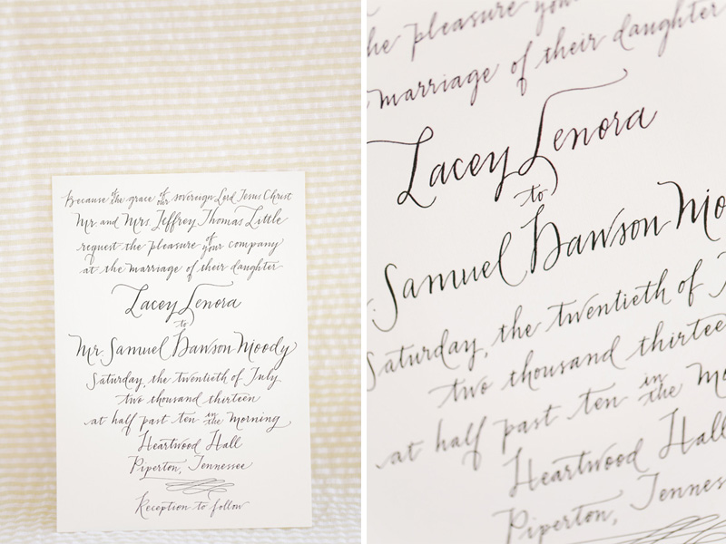 Gorgeous Calligraphed #wedding #invitation | photo by  www.annabellacharles.com | design by www.rachelfishercalligraphy.com #calligraphy