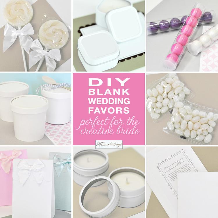 DIY blank Hochzeit Gefälligkeiten: ideal für die kreative Braut