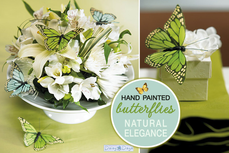 Hand Painted Butterflies - create a look of natural elegance on favors, flowers and even the cake.