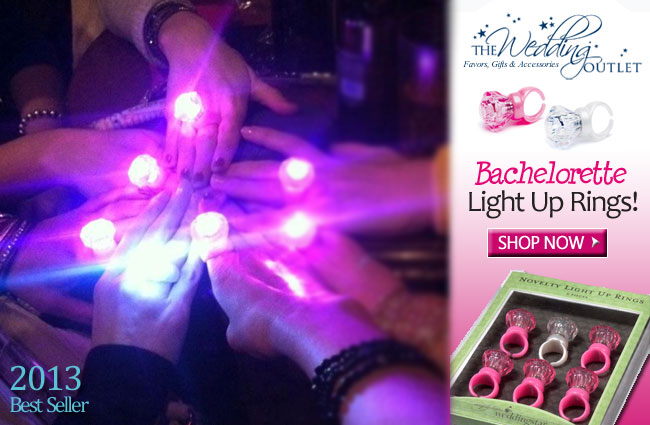 Bachelorette Party Light Up Rings : be seen wherever you are celebrating #bachelorette #parties #favors