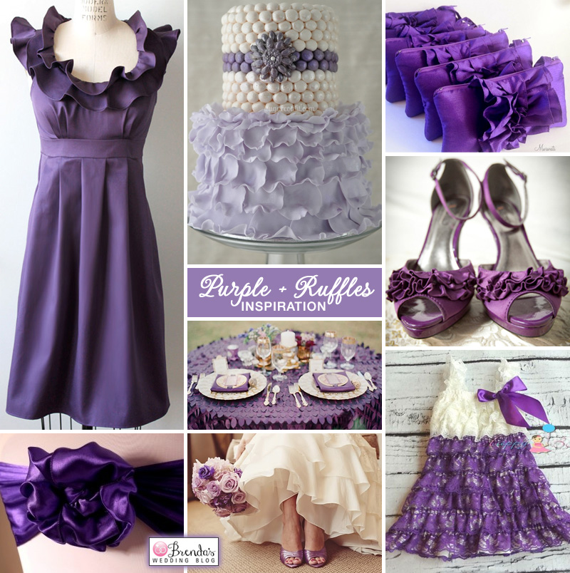 A #purple #wedding with lots of ruffles #inspiration
