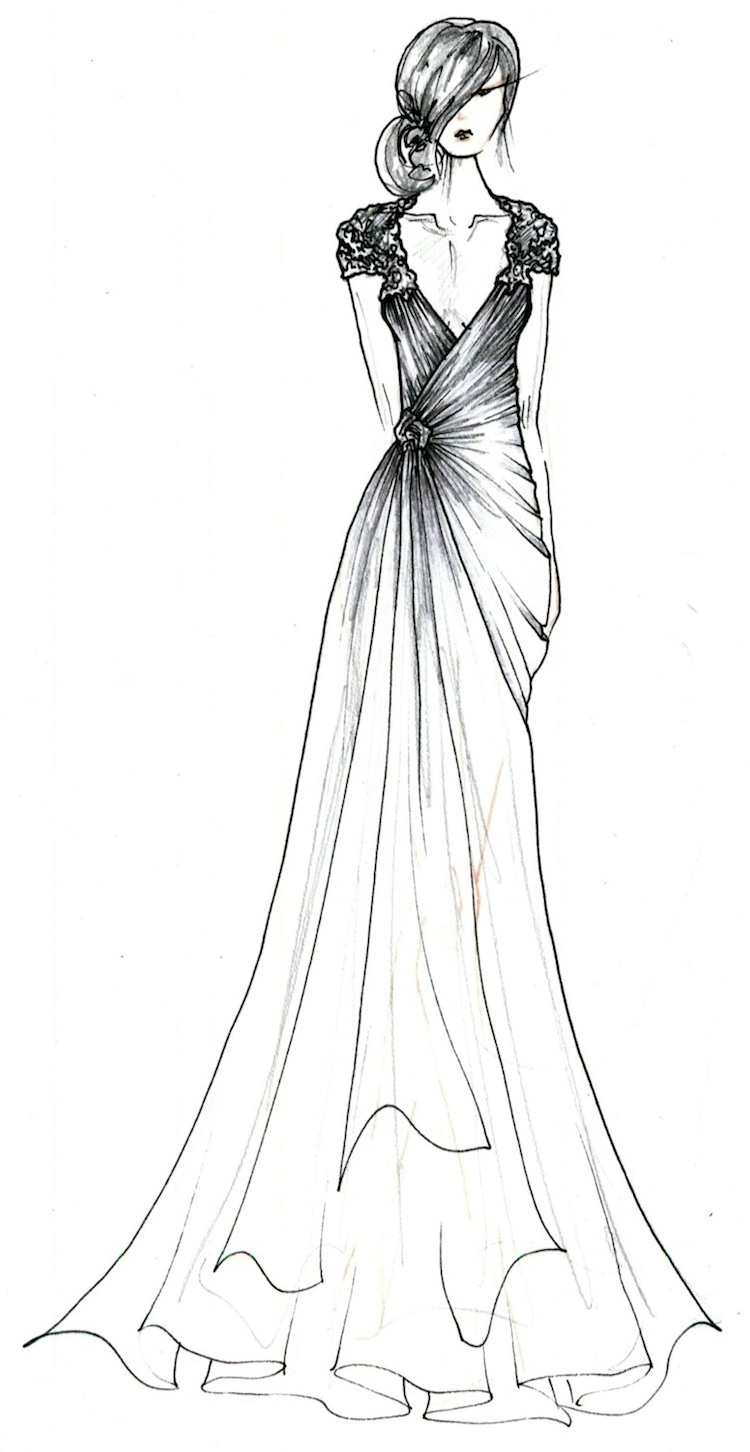 Black Label Wedding Gowns by Anne Barge . . . a sketched