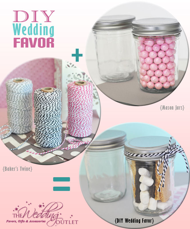 DIY Wedding Favors with mini mason jars