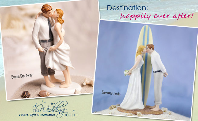 Happily Ever After with #destination #wedding #cake #toppers - two brand new arrivals from @weddingoutlet
