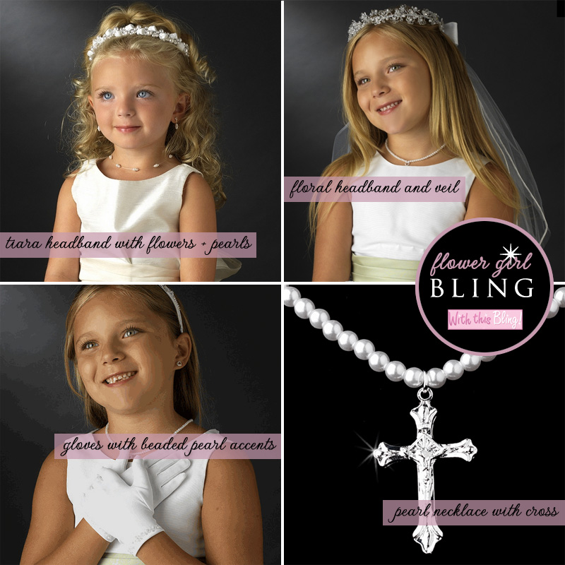 Bling for the #Flower #Girl at #Weddings