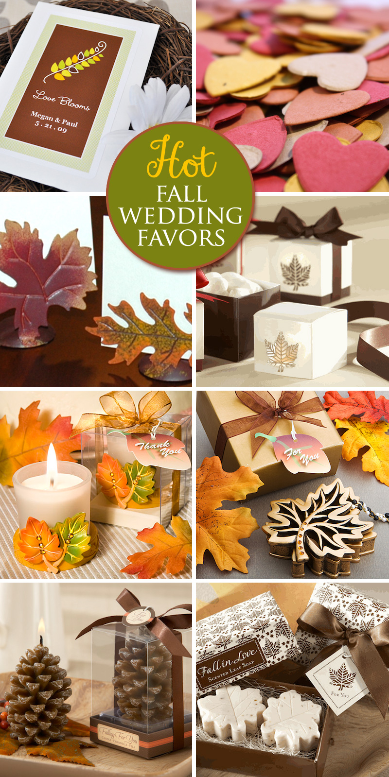 What's Hot in #Fall #Wedding #Favors for 2013?