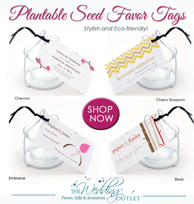 Plantable Wedding Seed Favor Tags : they're stylish and eco-friendly