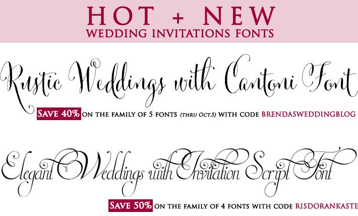 Good Wedding Invitation Fonts: Affordable Wedding Ideas For