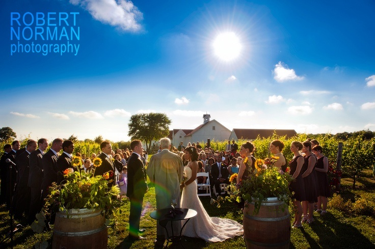A Jonathan Edwards Winery wedding among the vines | photo by Robert Norman Photography
