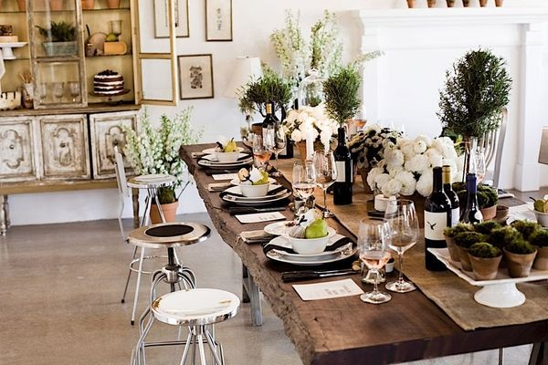 Rustic Chic Wine Tasting Wedding