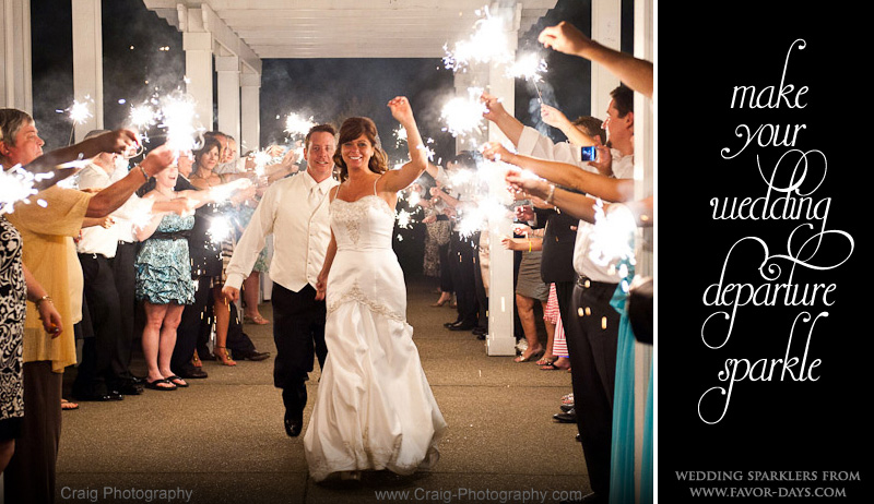 Make your wedding exit shine with wedding sparklers