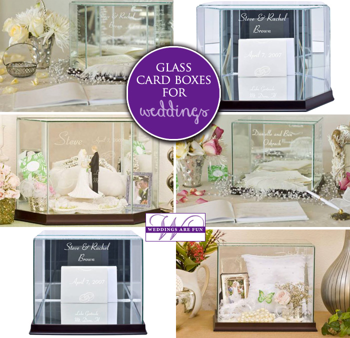 glass wedding card box holders