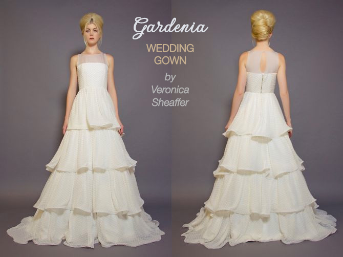 Gardenia handmade wedding gown by Veronica Sheaffer