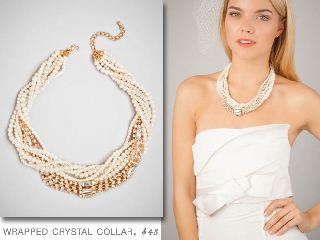 BaubleBar Wrapped Crystal Collar | #Bridal #Jewelry