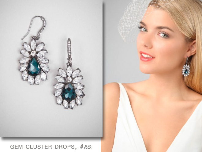 BaubleBar Gem Cluster Drop Earrings | #Bridal #Jewelry