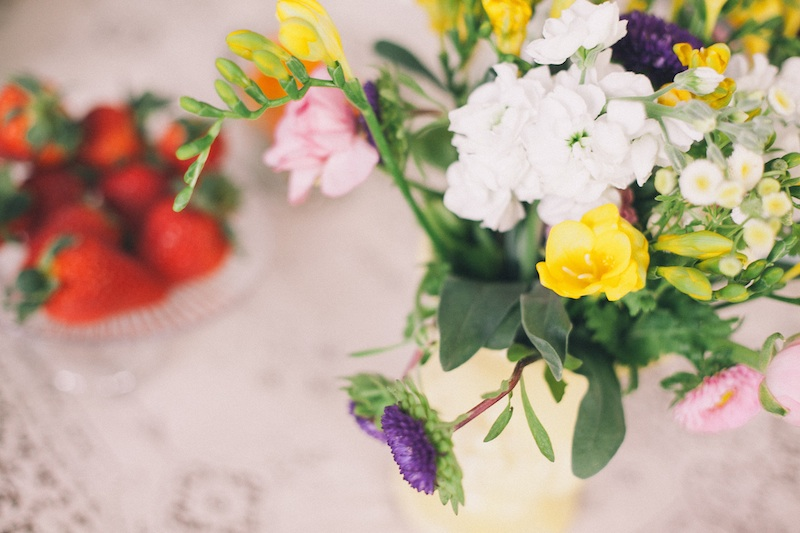 Pretty #flowers for a #vintage #brunch #bridal #shower