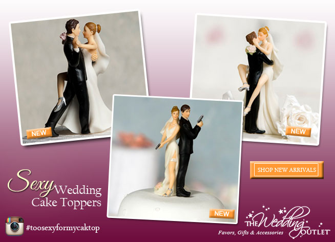 sexy wedding cake toppers | via The Wedding Outlet