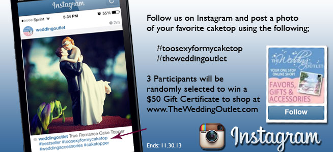 The Wedding Outlet's instagram cake topper giveaway