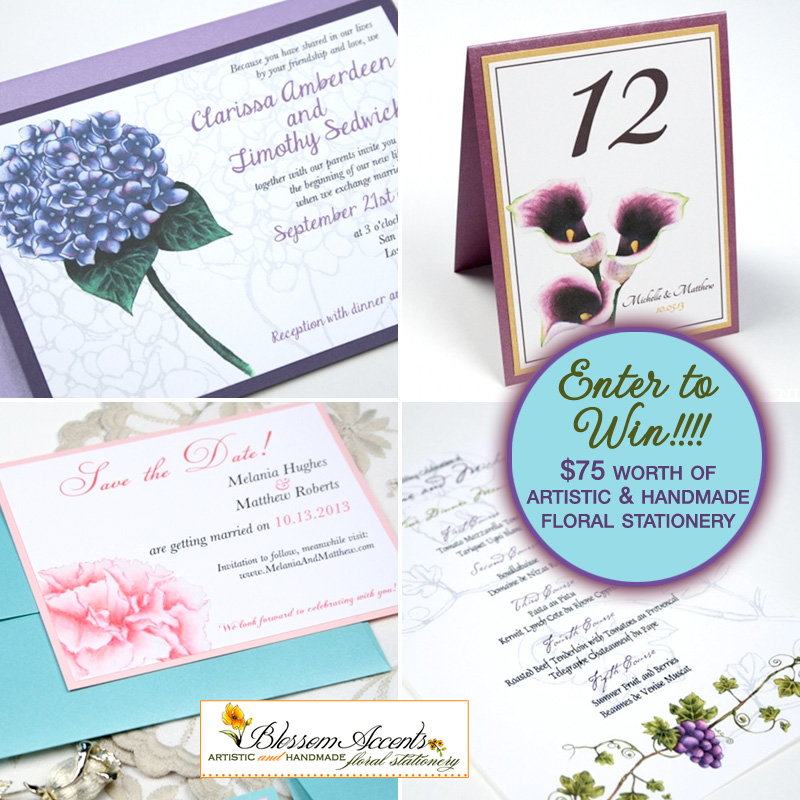 Handmade #Floral #Wedding #Invitations and #Stationery #Giveaway