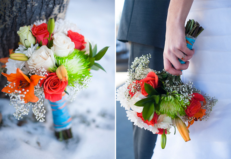 Colorful #Winter #Bouquet by Chelsea of Ad Finem Flores | www.adfinemflores.com