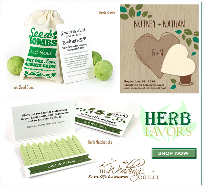 Herb Wedding Favors | from matchsticks to seed bombs