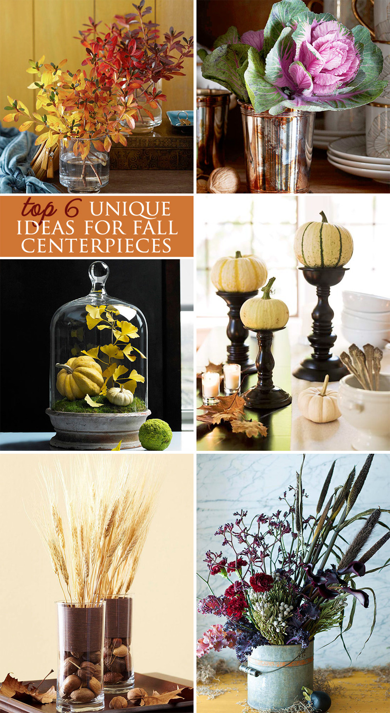 Top 6 unique fall wedding #centerpieces #autumn #parties #weddings