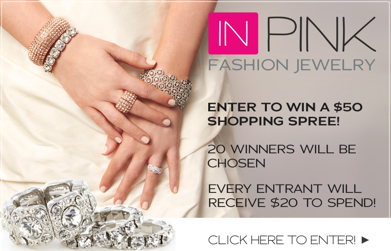 INPINK bridal and fashion #jewelry #giveaway - everyone wins a prize