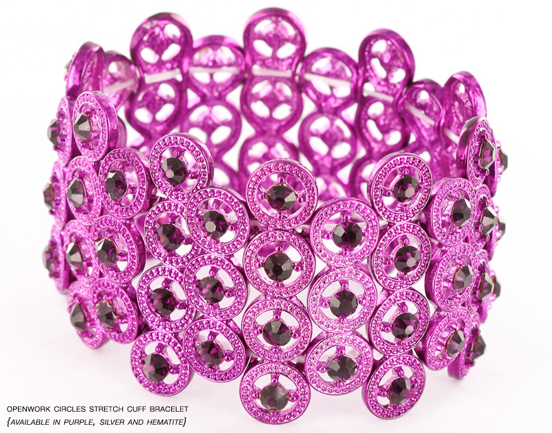 Purple Stretch Bracelet from InPink Fashion Jewelry : GIANT Giveaway on the blog {win up to $50 in free jewelry}
