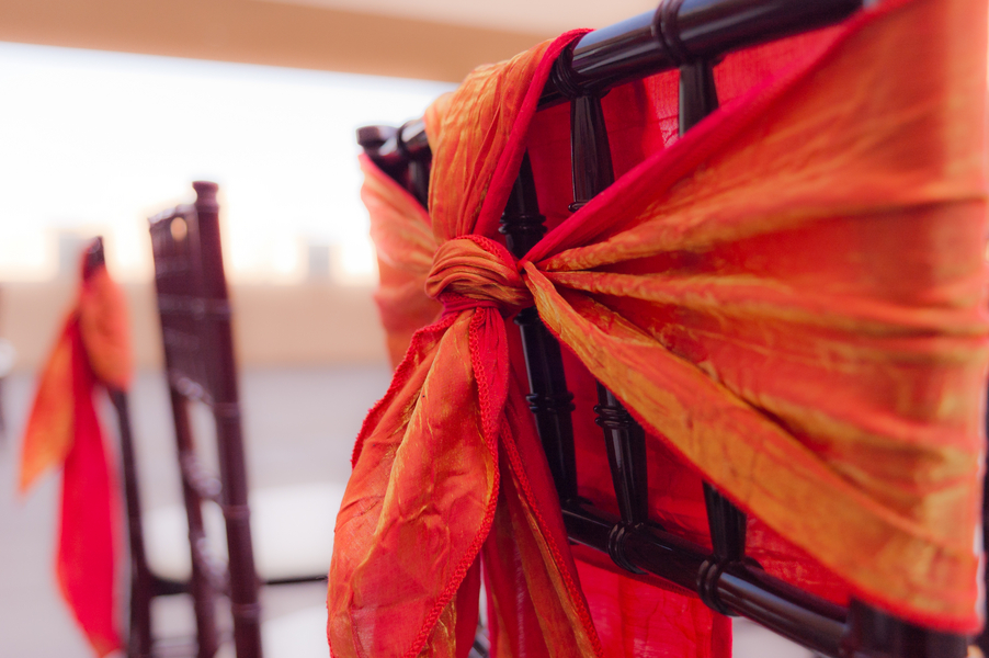 chair ties from a Moroccan themed photo shoot | photo by Dreamcicle Studios