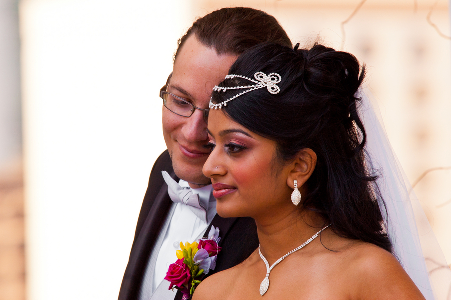 real bride and groom-to-be from an Indian Fusion styled shoot | photo by Dreamcicle Studios