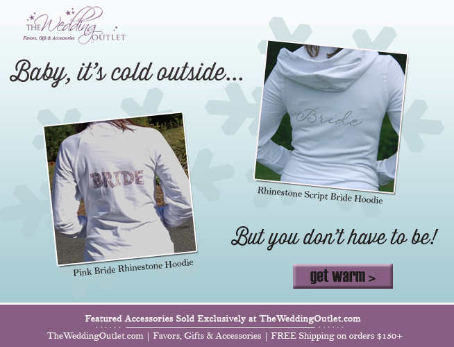 Stay warm with these #bridal #rhinestone #hoodies for the cold winter months