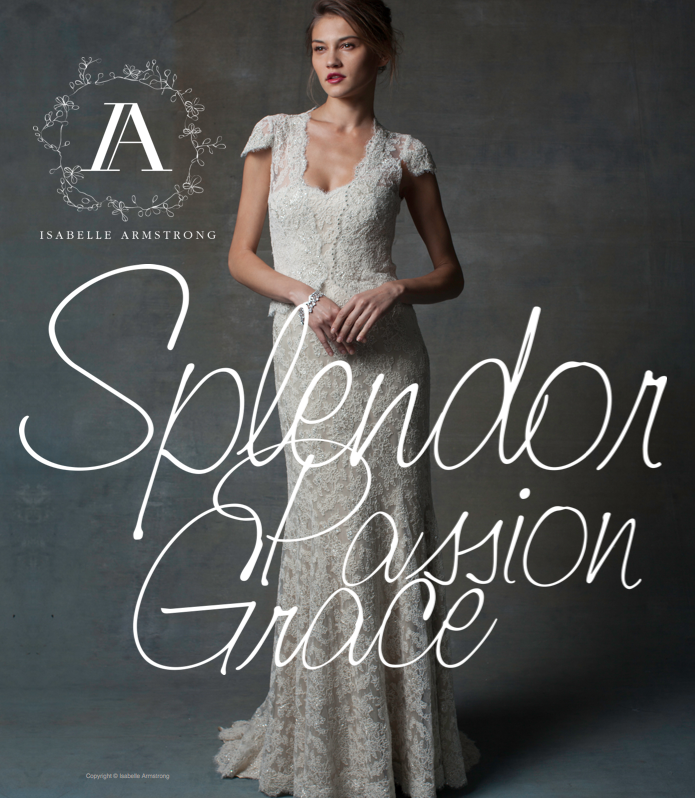 "Isabelle Armstrong #Couture #Bridal #Gowns - theme of debut collection is ""splendor passion grace"" #weddingdresses"