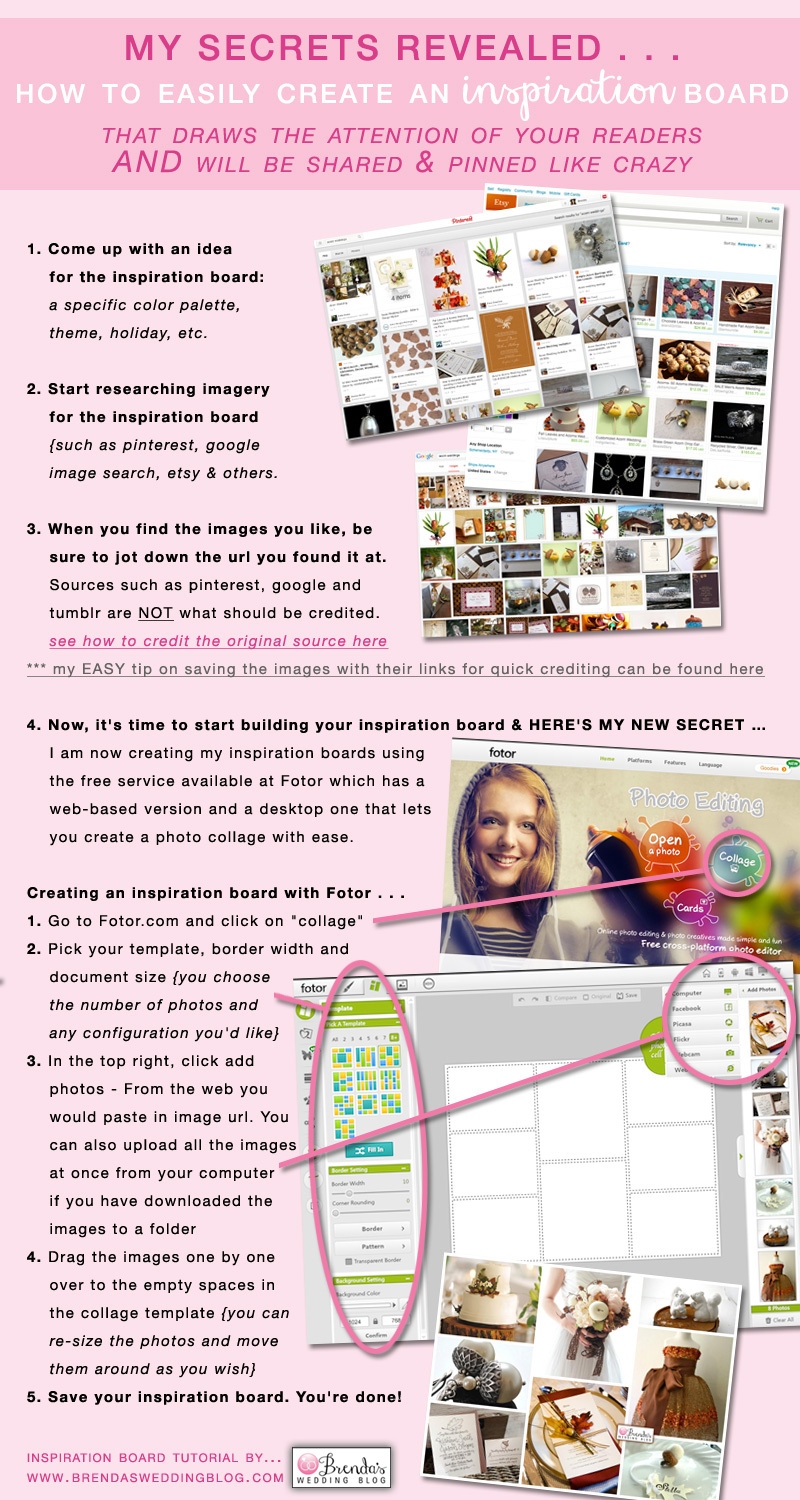 My Secrets on How to Easily Create an #Inspiration #Board for #weddings and #parties