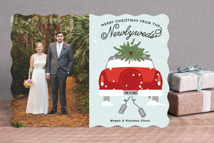 Newlywed Christmas Holiday Card from Minted