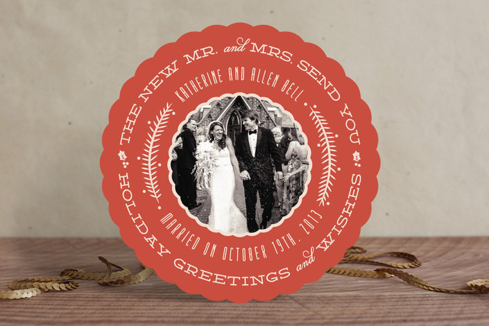 Very Married Holiday Card from Minted