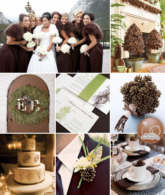 Pine Cone Themed #Winter #Wedding Inspiration Board #wintertheme