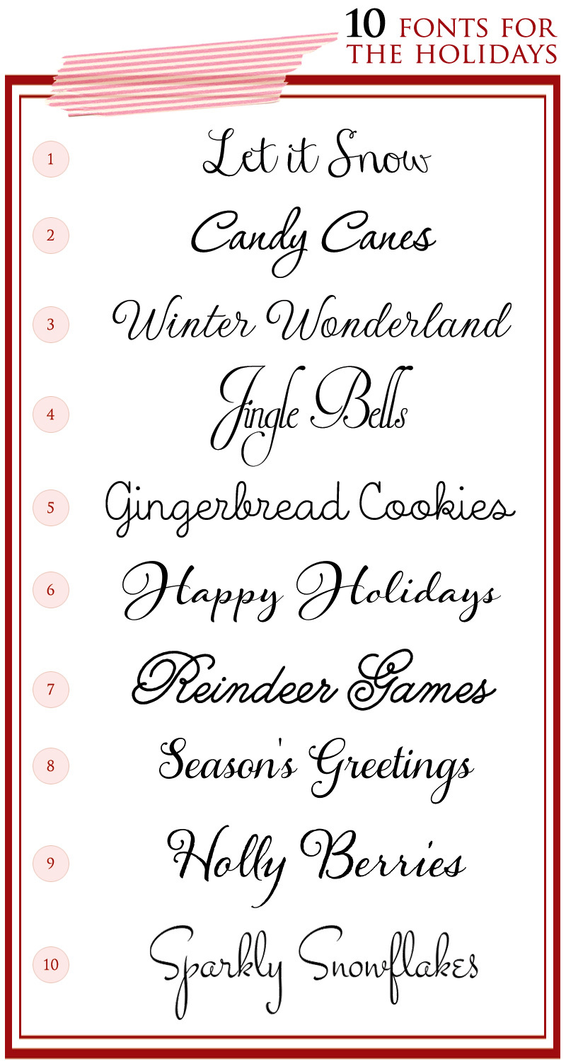 Script Fonts for the Holidays and Winter Wedding Season
