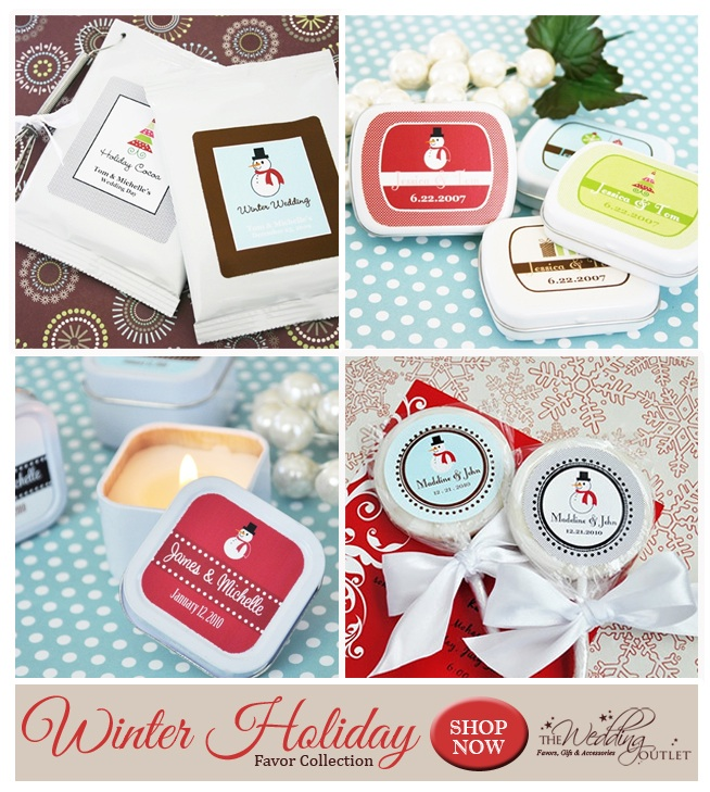 Winter Holiday Wedding Favor Collection from @weddingoutlet