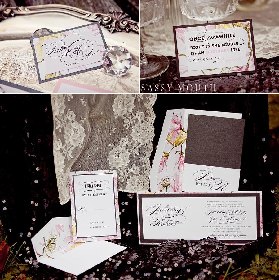 Sleeping Beauty Inspired Wedding Invitation Suite by Sassy Mouth Photography