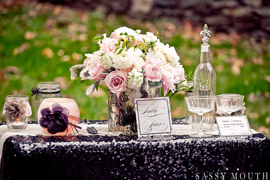 Sleeping Beauty Inspired Wedding Tablescape by Sassy Mouth Photography