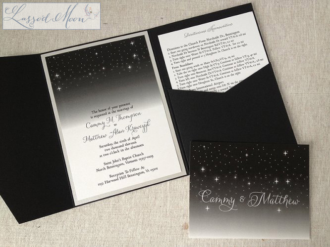 Night Wedding Invitations: Unique And Custom Wedding Invitations From Lasso'd Moon