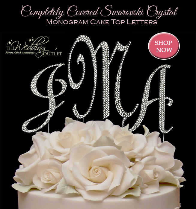 Monogram Cake Top Letters : they are completely covered in #swarovski #crystals #caketoppers #monograms